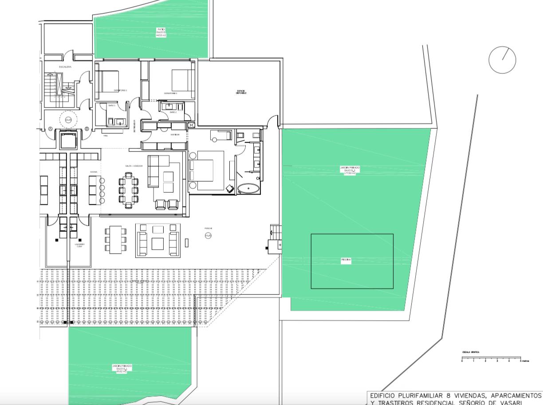 senorio de vasari marbella golden mile exclusief appartement penthouse kopen nieuwbouw modern design grondplan gelijkvloers b