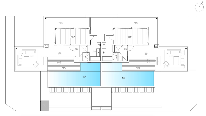 senorio de vasari marbella golden mile exclusief appartement penthouse kopen nieuwbouw modern design grondplan penthouse dakterras