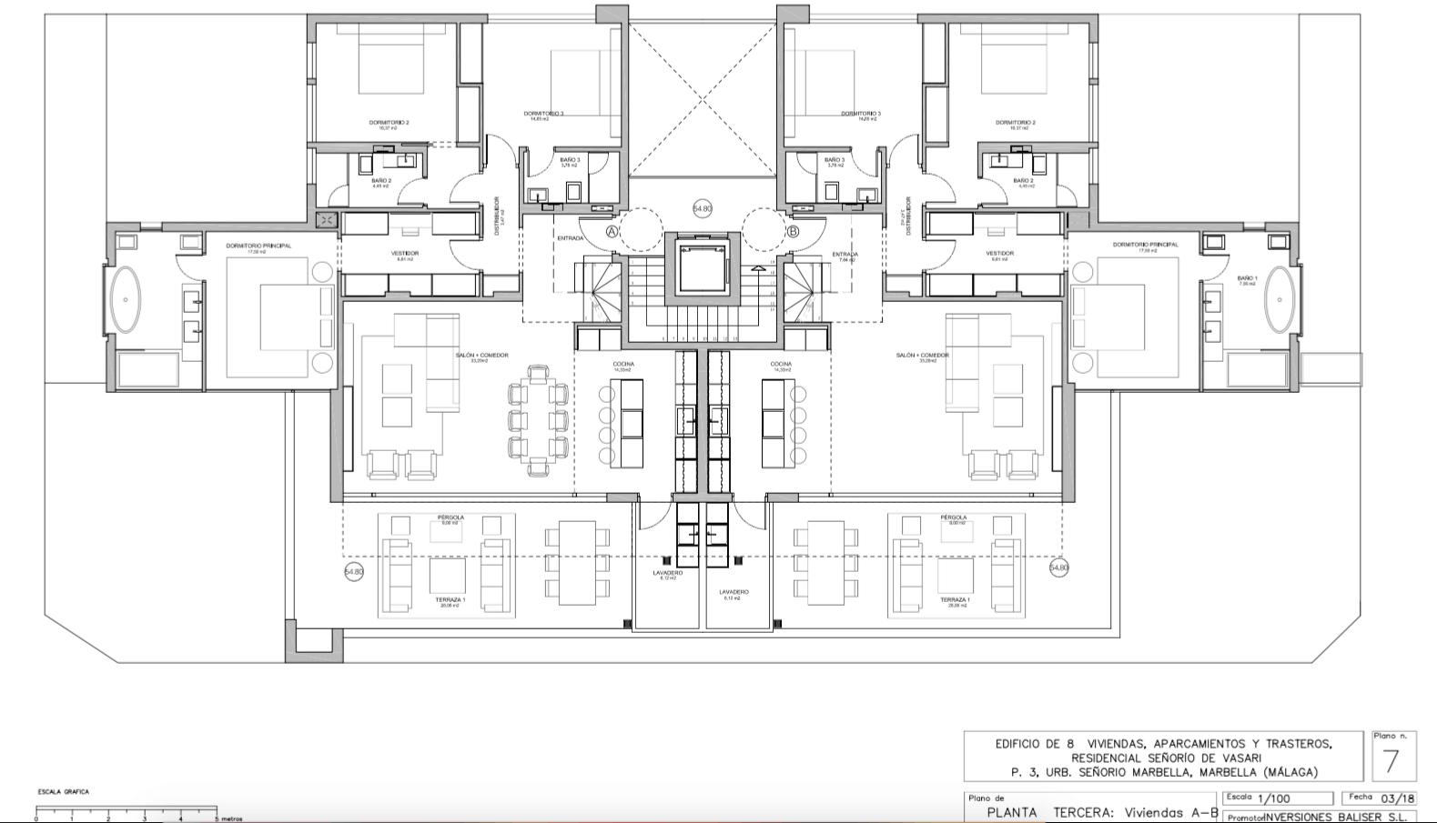 senorio de vasari marbella golden mile exclusief appartement penthouse kopen nieuwbouw modern design grondplan penthouse