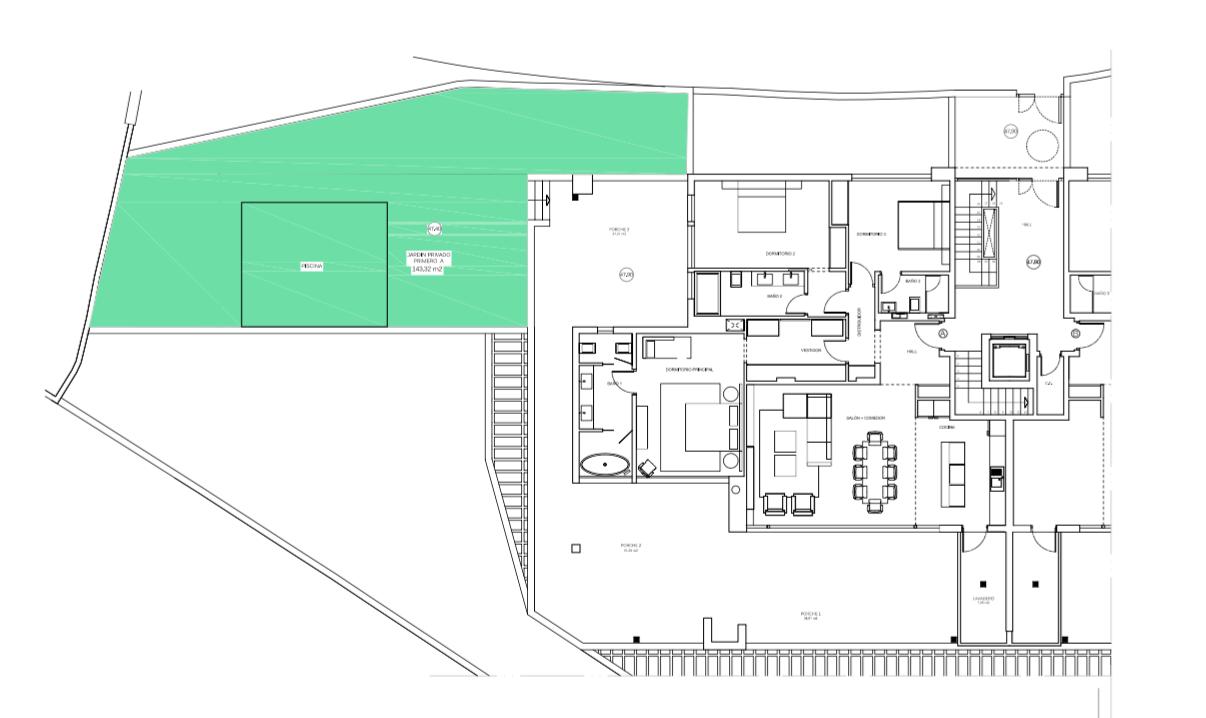 senorio de vasari marbella golden mile exclusief appartement penthouse kopen nieuwbouw modern design grondplan verdieping a