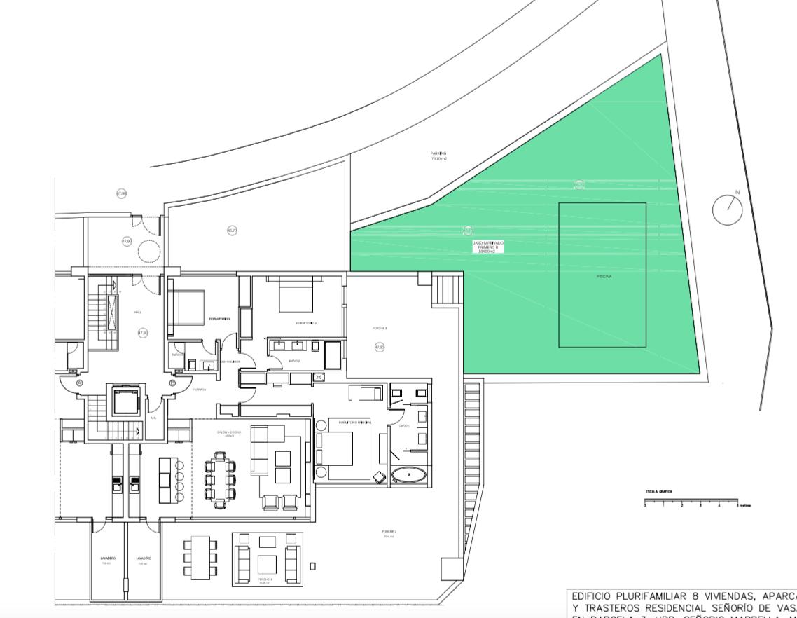 senorio de vasari marbella golden mile exclusief appartement penthouse kopen nieuwbouw modern design grondplan verdieping b