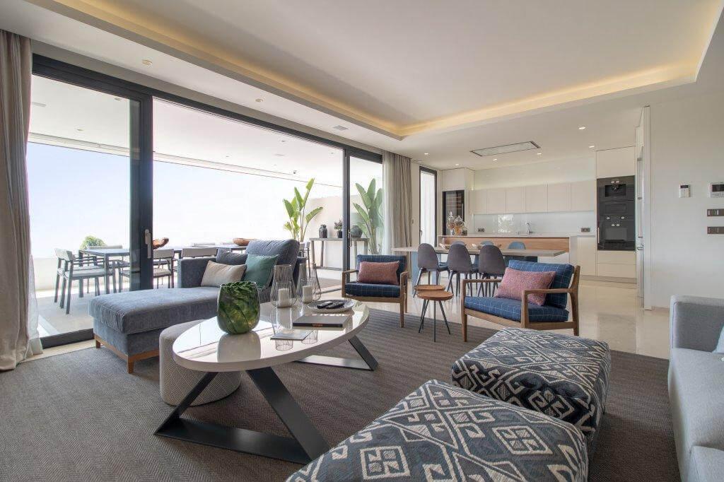 senorio de vasari marbella golden mile exclusief appartement penthouse kopen nieuwbouw modern design open keuken