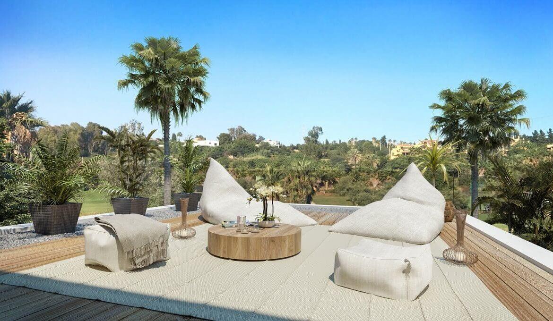 the sanctuary villas el campanario new golden mile estepona nieuwbouw te koop vrijstaand huis dakterras