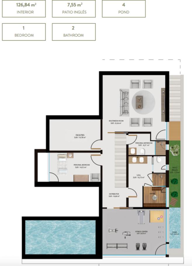 the sanctuary villas el campanario new golden mile estepona nieuwbouw te koop vrijstaand huis grondplan kelder