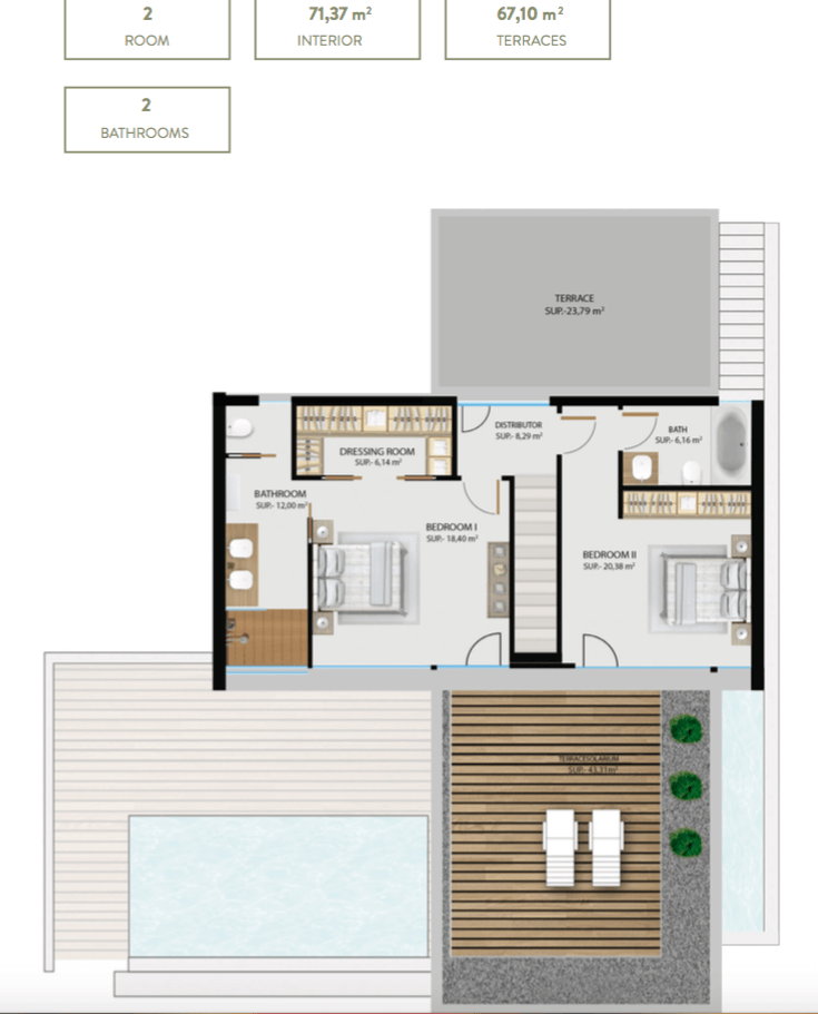the sanctuary villas el campanario new golden mile estepona nieuwbouw te koop vrijstaand huis grondplan verdieping