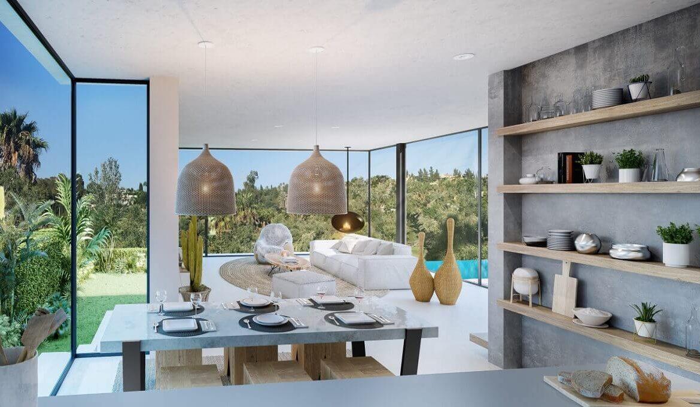 the sanctuary villas el campanario new golden mile estepona nieuwbouw te koop vrijstaand huis living