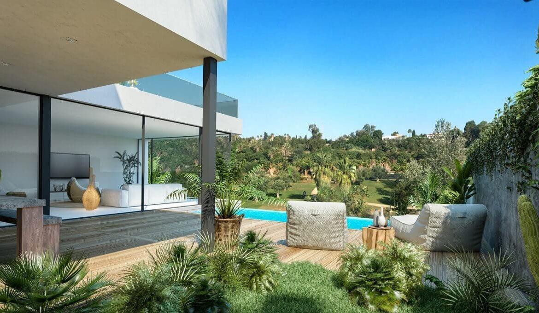 the sanctuary villas el campanario new golden mile estepona nieuwbouw te koop vrijstaand huis terras