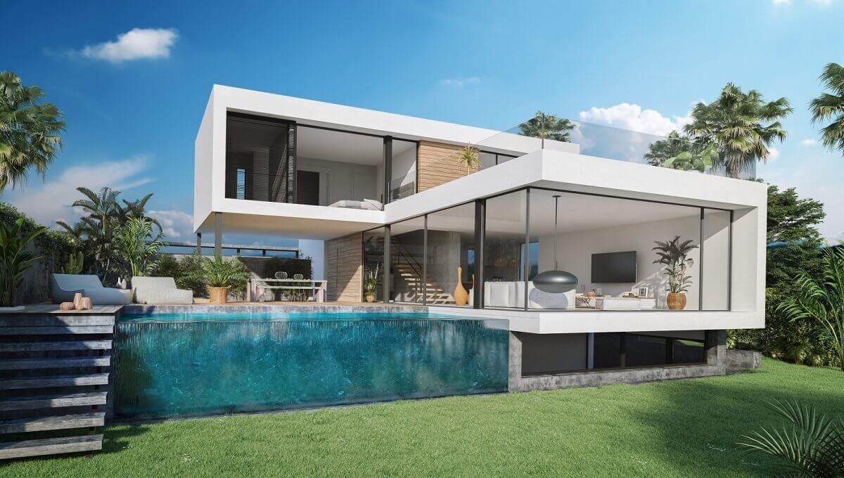 the sanctuary villas el campanario new golden mile estepona nieuwbouw te koop vrijstaand huis tuin