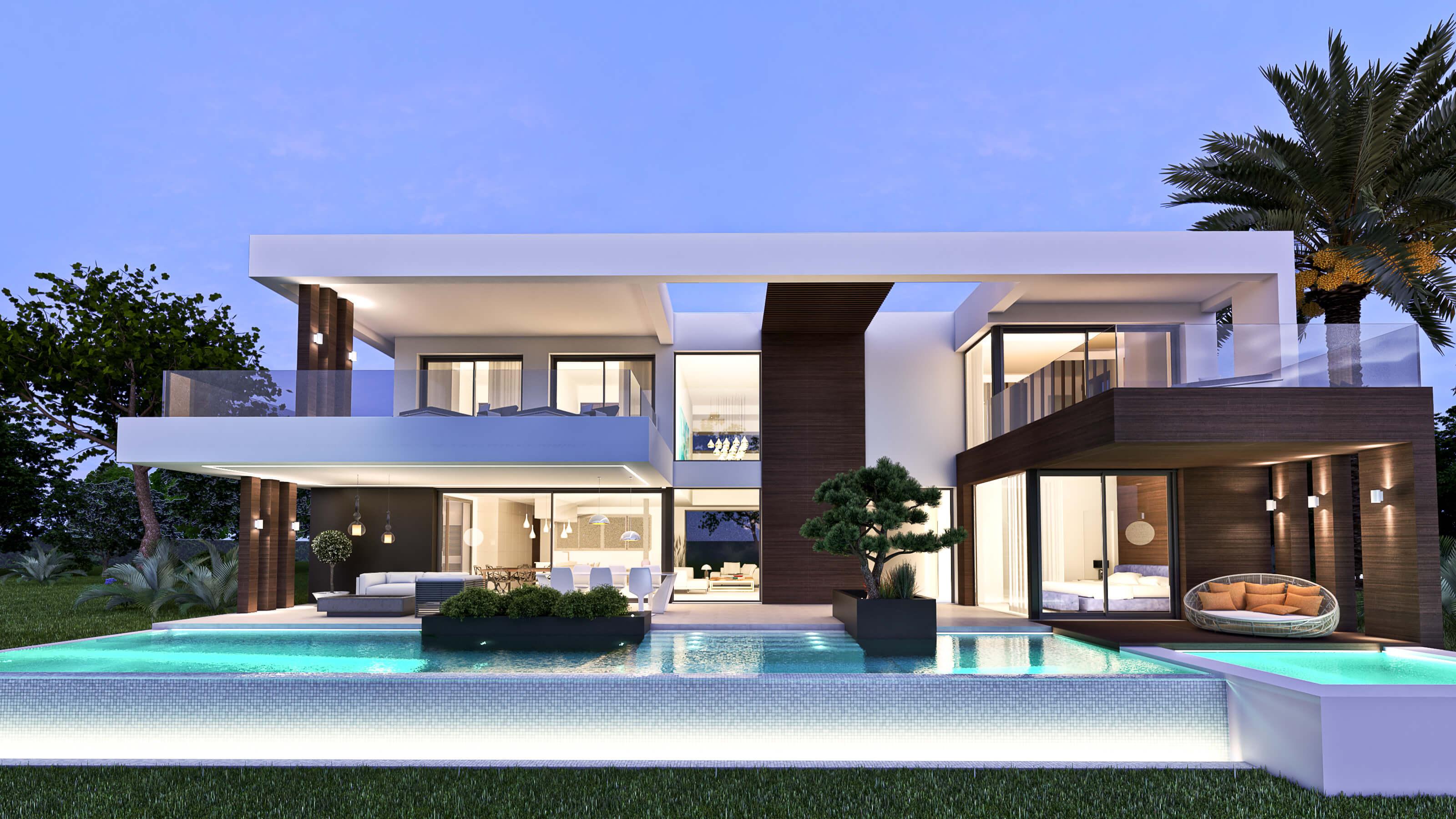 villamar moderne luxe villa kopen cancelada new golden mile estepona zeezicht vrijstaand zwembad hedendaags