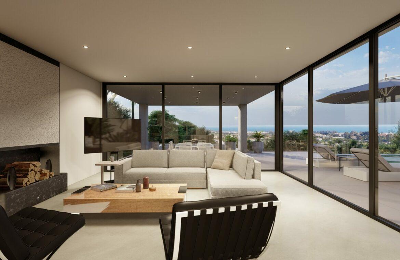 the view marbella costa del sol spanje vamoz nieuwbouw villa salon