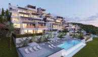 aqualina residences collection benahavis marbella costa del sol appartement penthouse te koop gemeenschappelijk zwembad