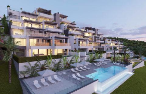 Aqualina: luxueus complex met panoramische zeezichten (Benahavis)