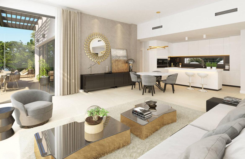 aqualina residences collection benahavis marbella costa del sol appartement penthouse te koop salon