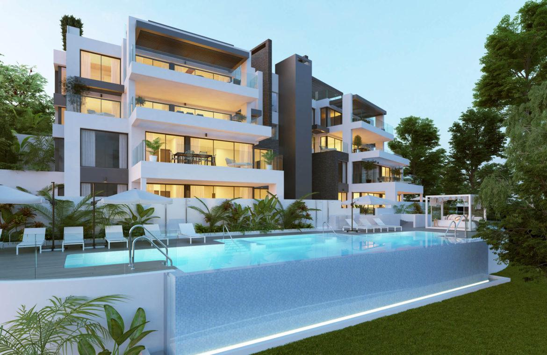 aqualina residences collection benahavis marbella costa del sol appartement penthouse te koop tuin