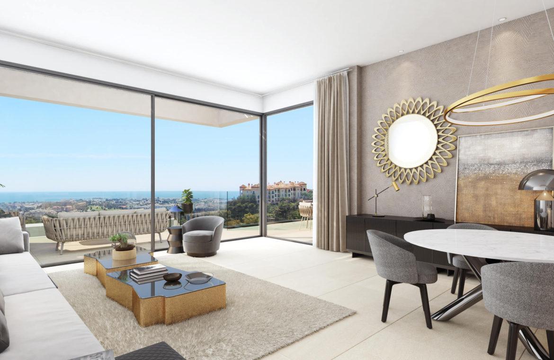 aqualina residences collection benahavis marbella costa del sol appartement penthouse te koop zeezicht