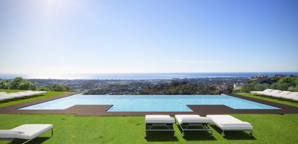 byu hills benahavis luxe appartement te koop gemeenschappelijk zwembad