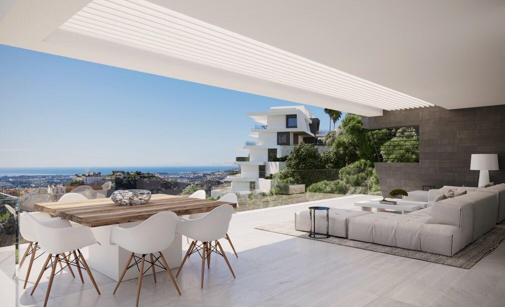 byu hills benahavis marbella luxe kleinschalig project appartement penthouse kopen zeezicht terrassen