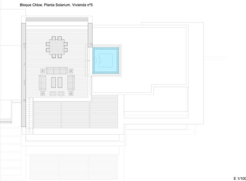 byu hills benahavis marbella luxe kleinschalig project appartement penthouse kopen zeezicht grondplan chloe solarium