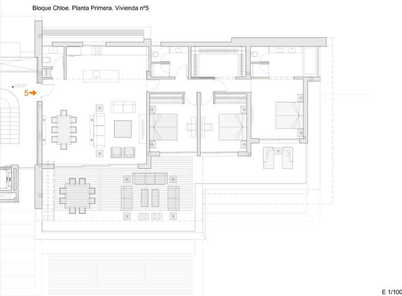 byu hills benahavis marbella luxe kleinschalig project appartement penthouse kopen zeezicht grondplan chloe verdieping