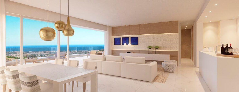 byu hills benahavis marbella luxe kleinschalig project appartement penthouse kopen zeezicht living