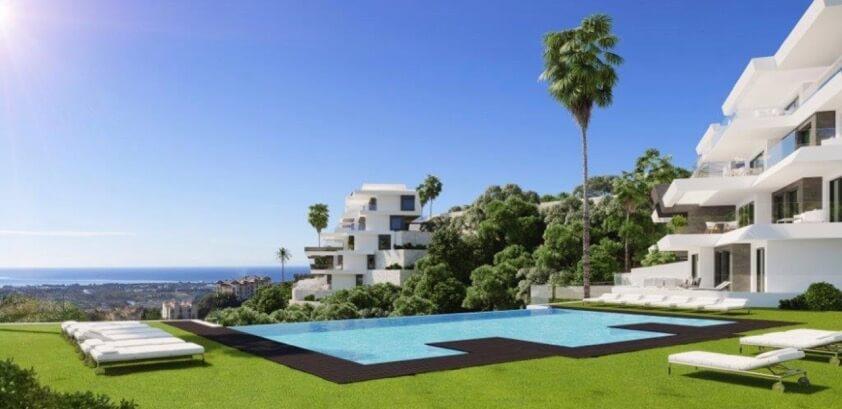byu hills benahavis marbella luxe kleinschalig project appartement penthouse kopen zeezicht project