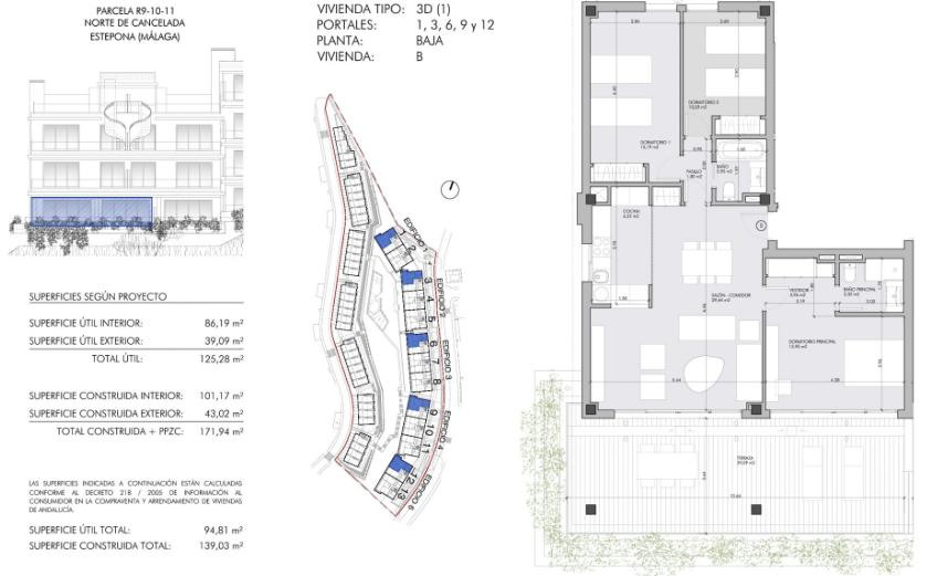 oceana views cancelada new golden mile marbella grondplan gelijkvloers 3 slaapkamers
