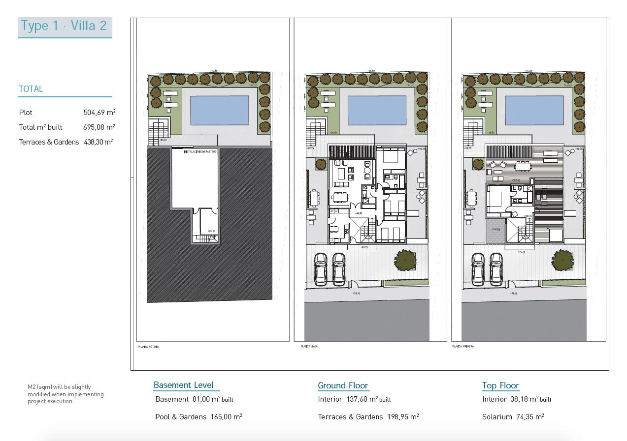 royal golf villas la cala hills mijas oost marbella nieuwbouw villa onder constructie te koop grondplan