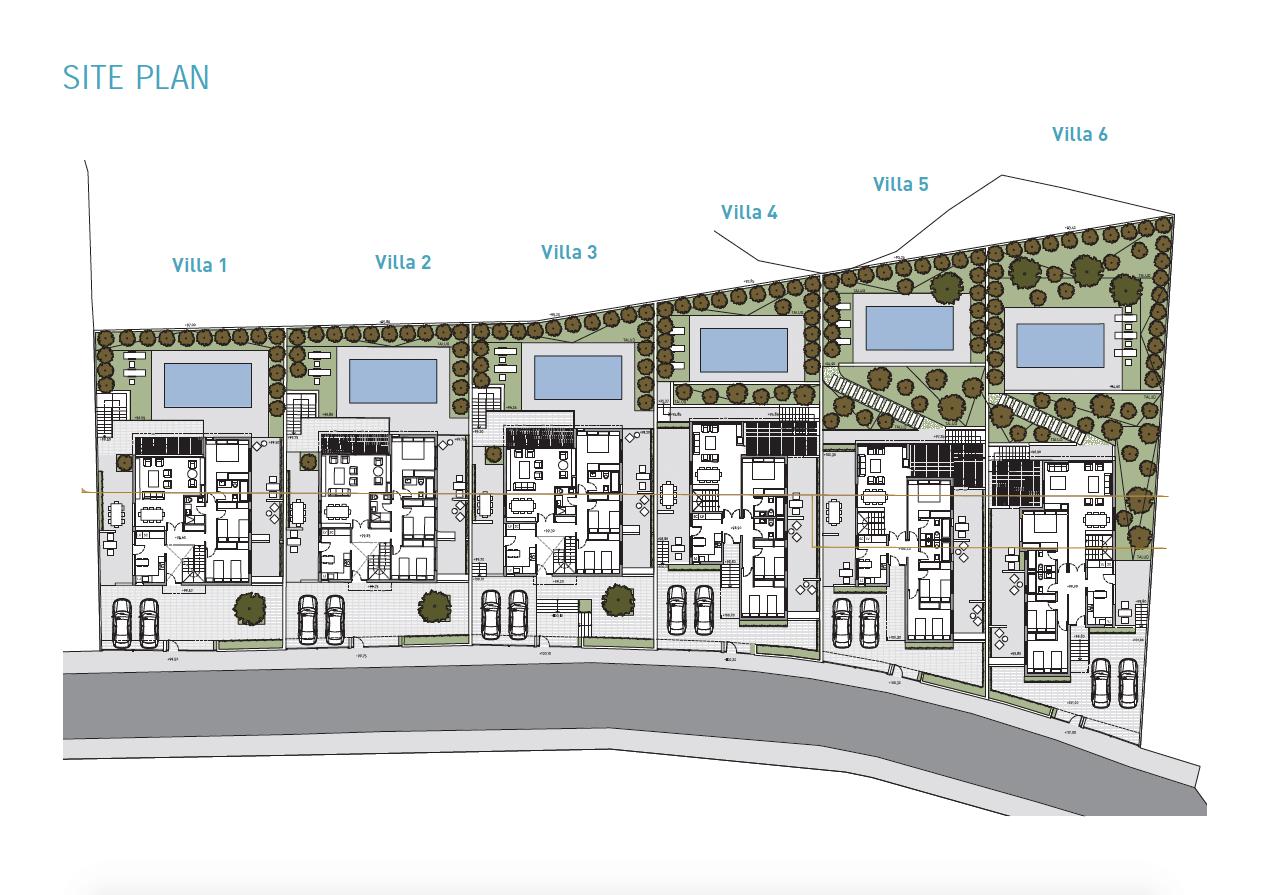 royal golf villas la cala hills mijas oost marbella nieuwbouw villa onder constructie te koop inplanting