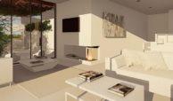 royal golf villas la cala hills mijas oost marbella nieuwbouw villa onder constructie te koop living
