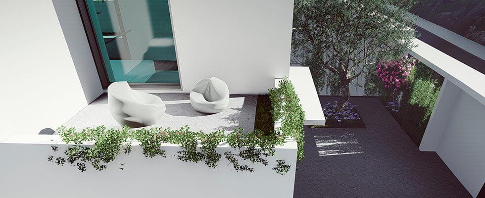 royal golf villas la cala hills mijas oost marbella nieuwbouw villa onder constructie te koop patio