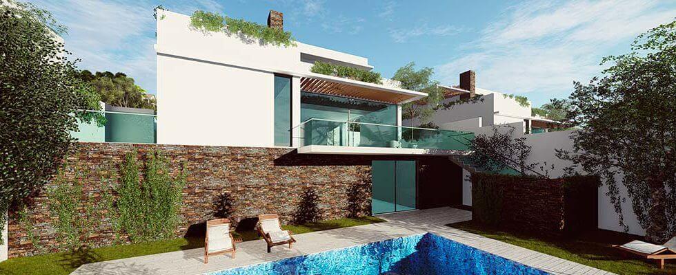 royal golf villas la cala hills mijas oost marbella nieuwbouw villa onder constructie te koop prive tuin
