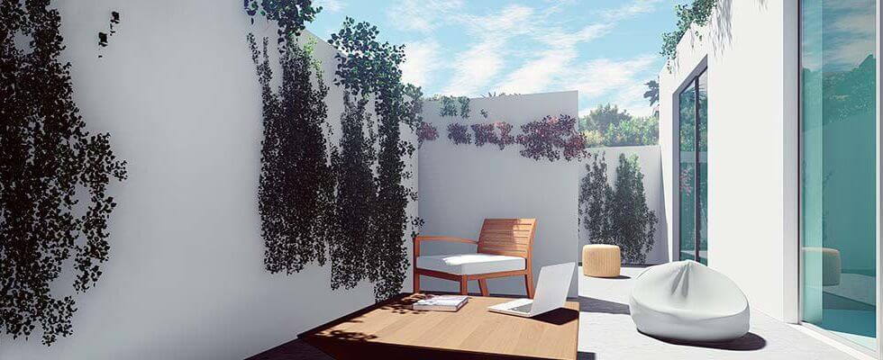 royal golf villas la cala hills mijas oost marbella nieuwbouw villa onder constructie te koop terras