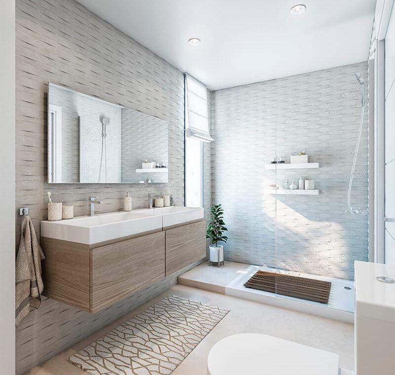 valley homes valle romano golf resort estepona costa del sol modern nieuwbouw appartement penthouse kopen zeezicht badkamer