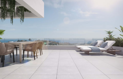 Valley Homes: penthouses met panoramisch zee en golfzicht (Estepona)
