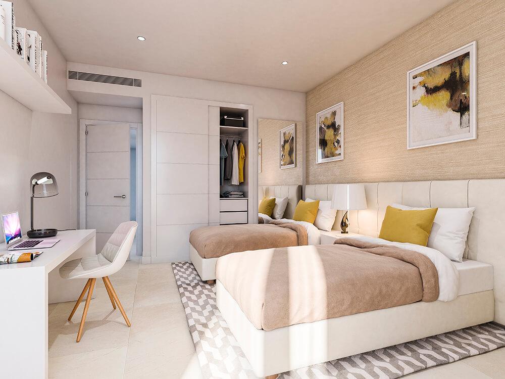 valley homes valle romano golf resort estepona costa del sol modern nieuwbouw appartement penthouse kopen zeezicht gasten slaapkamer