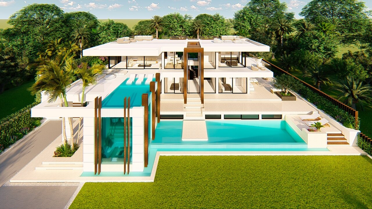 villa atalaya beste deal alqueria golf benahavis new golden mile zeezicht modern off plan nieuwbouw