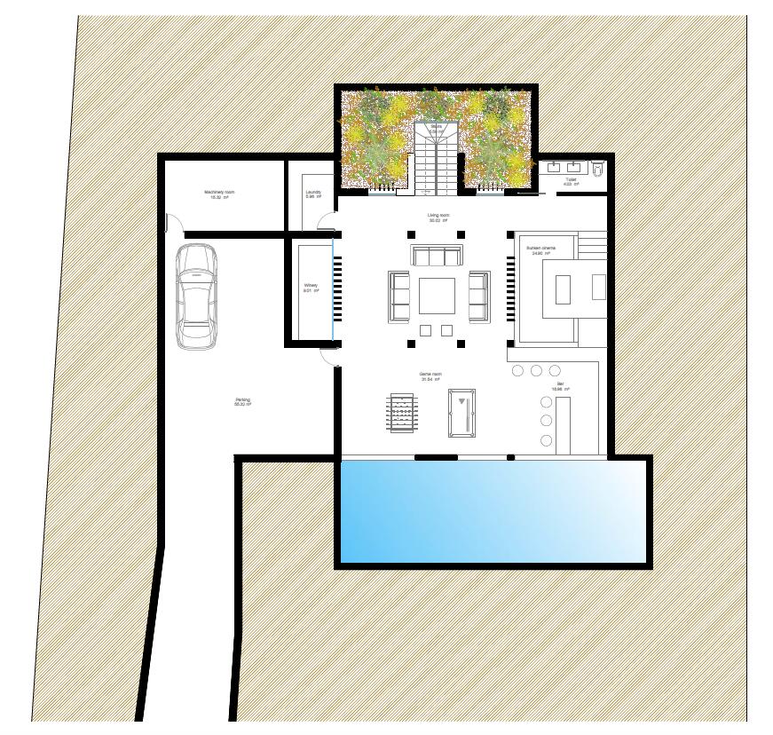 villa atalaya beste deal alqueria golf benahavis new golden mile zeezicht modern off plan nieuwbouw grondplan kelder