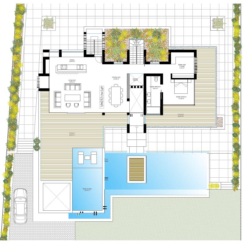 villa atalaya beste deal alqueria golf benahavis new golden mile zeezicht modern off plan nieuwbouw grondplan verdieping