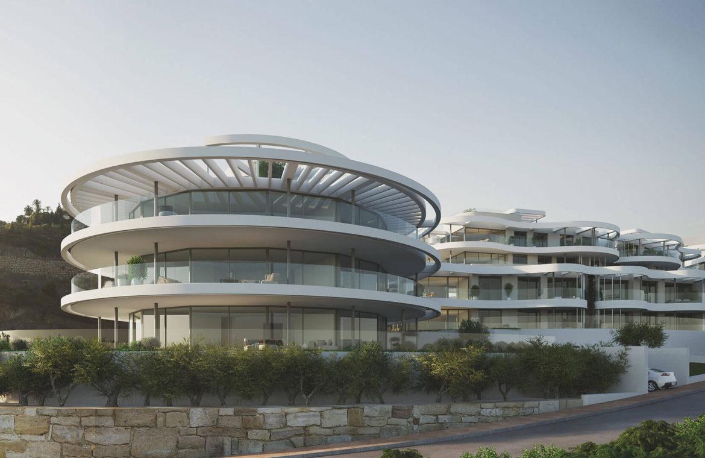 the view marbella zeezicht panoramisch zicht futuristisch modern nieuwbouw benahavis luxe exclusief concierge appartement
