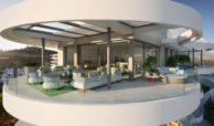 the view marbella zeezicht panoramisch zicht futuristisch modern nieuwbouw benahavis luxe exclusief concierge appartement golf hoekterras