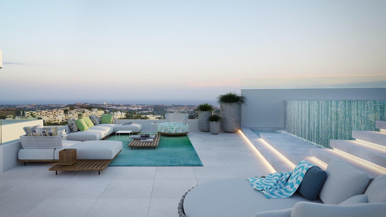the view marbella zeezicht panoramisch zicht futuristisch modern nieuwbouw benahavis luxe exclusief concierge appartement golf solarium