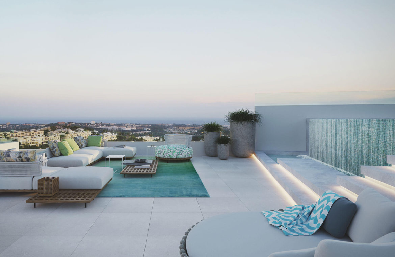 the view marbella zeezicht panoramisch zicht futuristisch modern nieuwbouw benahavis luxe exclusief concierge dakterras