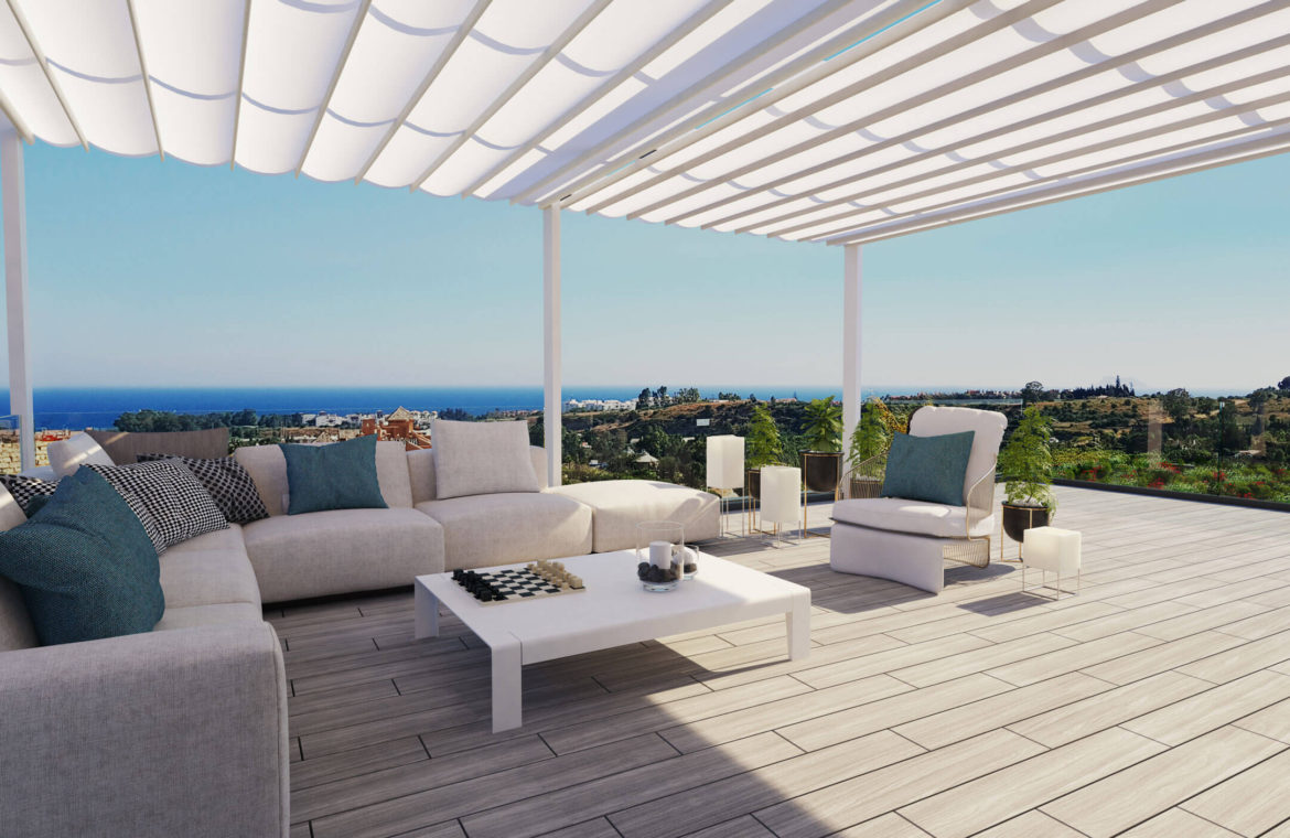 oceana views invest spain bromley cancelada estepona new golden mile marbella zeezicht appartementen penthouses zeezicht golf wandelafstand te koop dakterrassen