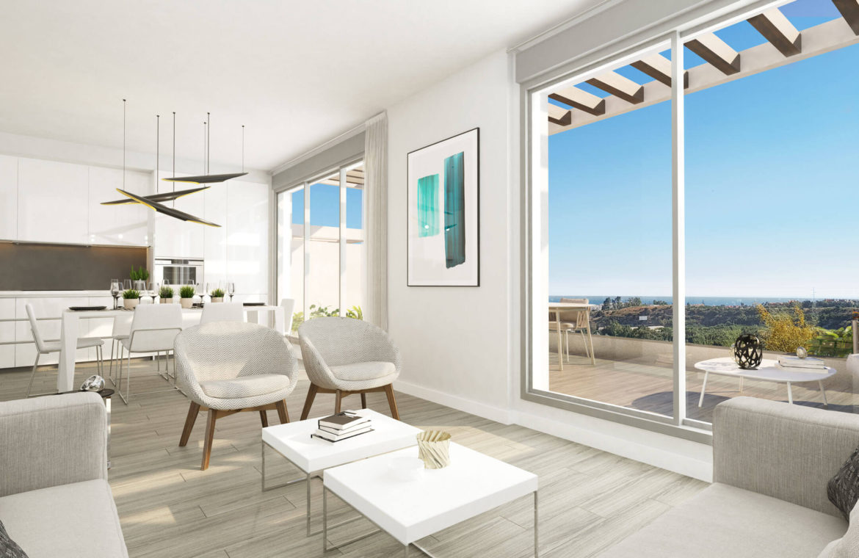 oceana views invest spain bromley cancelada estepona new golden mile marbella zeezicht appartementen penthouses zeezicht golf wandelafstand te koop living