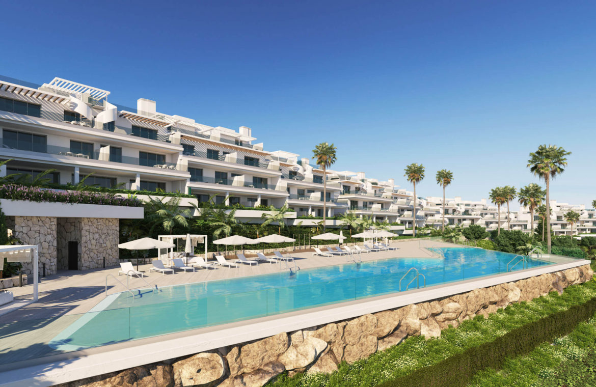 oceana views invest spain bromley cancelada estepona new golden mile marbella zeezicht appartementen penthouses zeezicht golf wandelafstand te koop project