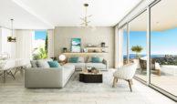oceana views invest spain bromley cancelada estepona new golden mile marbella zeezicht appartementen penthouses zeezicht golf wandelafstand te koop salon