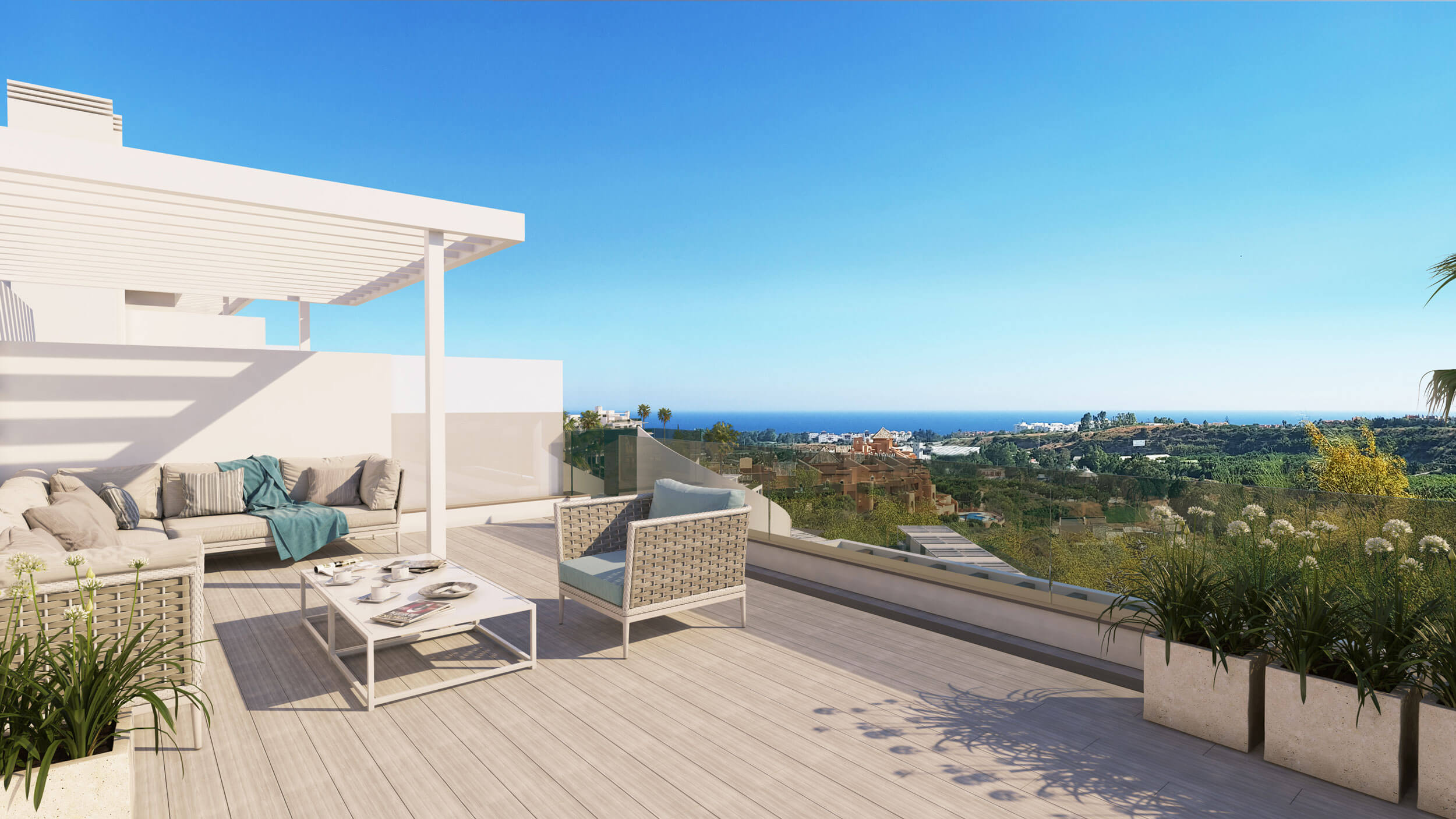oceana views invest spain bromley cancelada estepona new golden mile marbella zeezicht appartementen penthouses zeezicht golf wandelafstand te koop solarium
