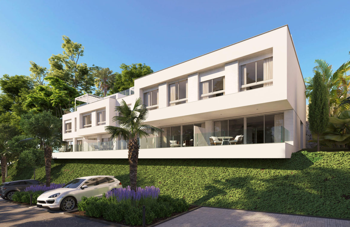 oceana views invest spain bromley cancelada estepona new golden mile marbella zeezicht appartementen penthouses zeezicht golf wandelafstand te koop townhouse
