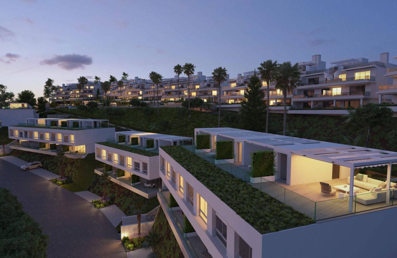 oceana views invest spain bromley cancelada estepona new golden mile marbella zeezicht appartementen penthouses zeezicht golf wandelafstand te koop tuin