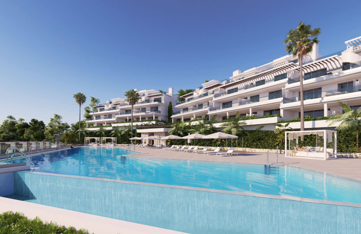 oceana views invest spain bromley cancelada estepona new golden mile marbella zeezicht appartementen penthouses zeezicht golf wandelafstand te koop zwembad